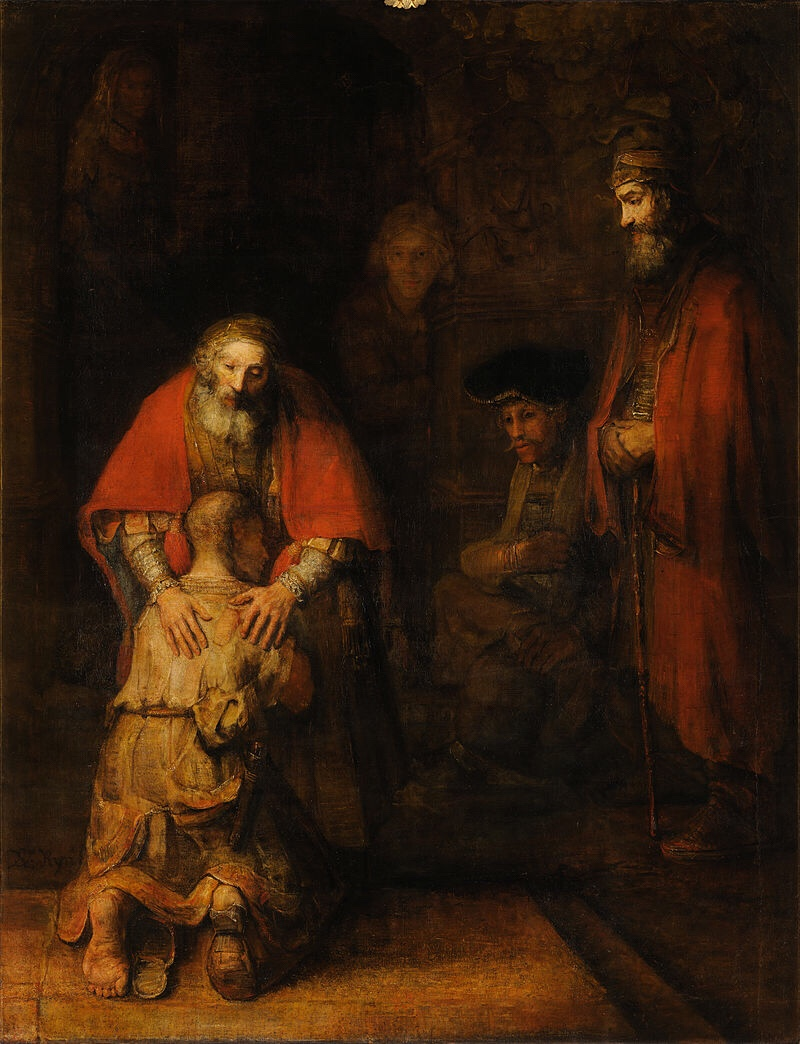 Return of the Prodigal Son, Rembrandt, 1668, Hermitage Museum, St Petersburg
